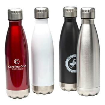 "16 oz. ""Glacier"" Stainless Steel, Double Walled, Vacuum Insulated Sports Bottle"