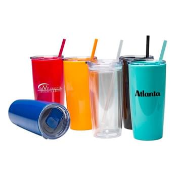 "22 oz. ""Captiva"" Acrylic Double Wall Tumbler"