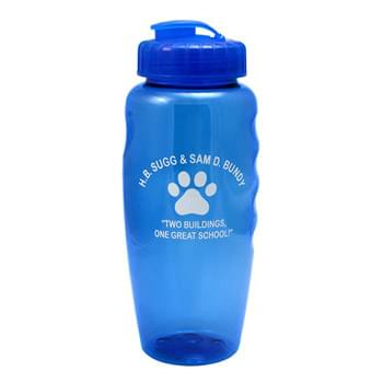 "30 oz. ""Gripper"" Poly-Clean Sports Bottle with Super-Sipper Lid"
