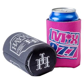 FoamZone USA Made Collapsible Can Cooler with Bottom Imprint